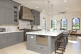 simple design of small kitchen ideas with dark grey shaker wooden