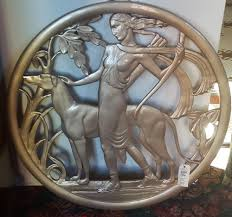 deco plaque metal love this beautiful art deco wall plaque diana and the hound yelp