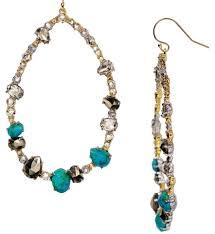 pierced earrings bittar chrysocolla and pyrite hoop pierced earrings