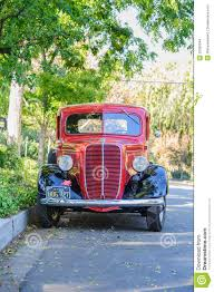 Vintage Ford Pickup Truck - vintage 1937 ford pickup truck front view editorial stock image