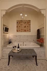 bathroom restful spa bathroom decor idea with corner drop in