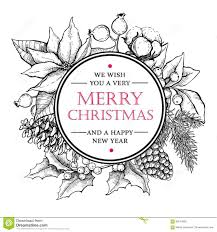 hand drawn christmas vector royalty free stock images image