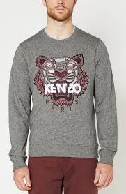 dark grey sweatshirt with tigers in burgundy kenzo