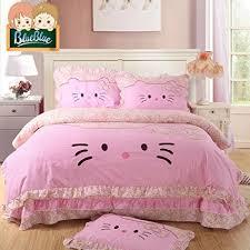 buy sisbay hello kitty bedding baby girls cat cartoon duvet cover