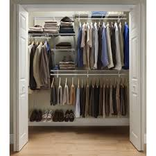 white wooden wall mount rack over clothes bar for closet and shoe