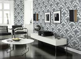 pvc glitter black silver damask wallpaper background wall bedroom