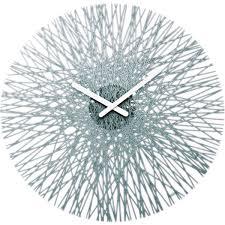 Unusual Clocks by Koziol Silk Wall Clock Anthracite Unusual Grey Wall Clock