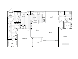 2 bedroom 2 bath house plans luxury two bedroom apartment floor plans