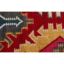 Red Tribal Rug Baneh Red Modern Tribal Rug