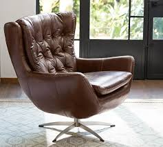 Pottery Barn Recliners Wells Leather Armchair Pottery Barn Love The Traditional Meets