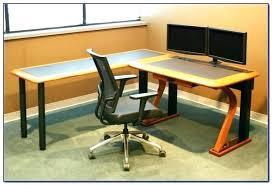 Dual Monitor Computer Desks Dual Monitor Desk Best Computer Desk For Monitors Desk