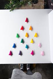 diy rainbow felt tree ornaments say yes