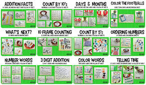 doodle bugs teaching first grade rocks football math centers