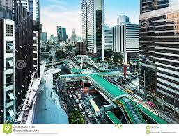 Modern City Modern City Sathon Road Bangkok Thailand Royalty Free Stock
