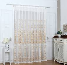 Embroidered Linen Curtains Grommet Sheer Curtain Online Grommet Sheer Curtain For Sale