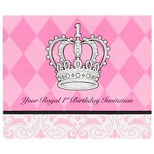 elegant princess damask 1st birthday invitations birthdayexpress com