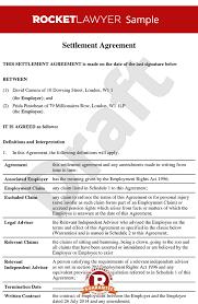 employment settlement agreement template uk professional resumes