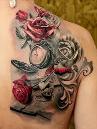 the 25 best clock and rose tattoo ideas on pinterest pocket