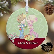 Personalised Christmas Ornaments - personalized christmas ornaments precious moments couple