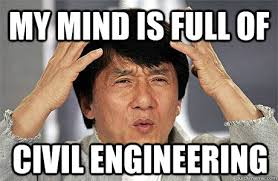 Funny Engineering Memes - my mind is full of civil engineering az meme funny memes funny