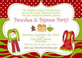 christmas pajama party invitations cimvitation