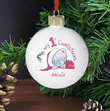 Baby S First Christmas Bauble With Name by Baby First Christmas Bauble