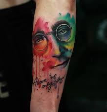 above us only sky john lennon best tattoo design ideas