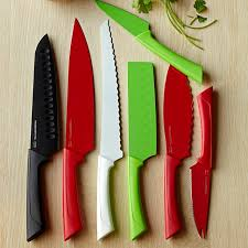 coloured kitchen knives essential 7 knife set williams sonoma