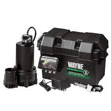 wayne 1 3 hp 12 volt battery backup sump pump system esp25 the