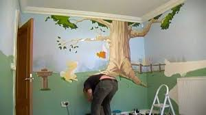 Bedroom Wall Mural Paint Winnie The Pooh Bedroom Mural Wall 1 Time Lapse Youtube