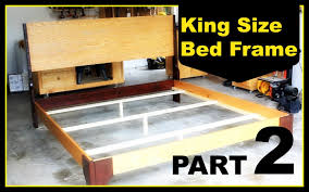 King Size Bed With Frame Diy King Size Bed Frame Part 2
