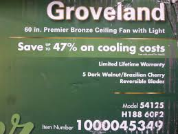hunter groveland ceiling fan hunter groveland 60 in premier bronze ceiling fan the open box shop