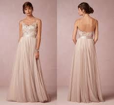 floor length chiffon backless vintage bohemian boho wedding dress