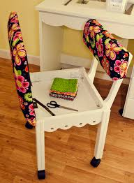 arrow cabinets sewing chair white gingerbread sewing chairs with newcastle floral fabric