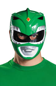 mighty morphin green ranger vacuform mask purecostumes com