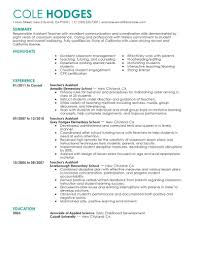 Sample Resume Of Teacher by Preschool Teacher Resume Sample Goals Of Early Childhood Education