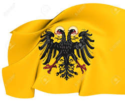 Roman Flag Colors Holy Roman Empire Flag 1400 1806 Close Up Stock Photo Picture And