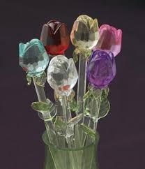 glass roses exquisite glass roses set of 6 décor accents décor