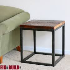 Diy Side Table White Reclaimed Industrial Side Table Diy Projects