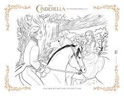 coloring disney cinderella coloring pages