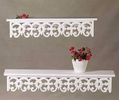 distressed wall shelves 2pc distressed white wood carved wall