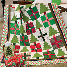 u0026 presents cheerful scrappy christmas lap quilt pattern