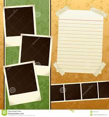 scrapbook template stock vector image of photo vector 13847120