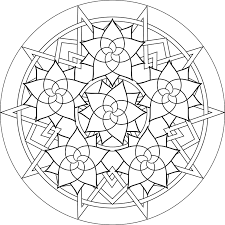 simple mandalas print color coloring pages simple mandalas