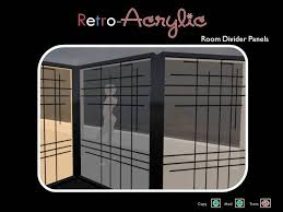 Acrylic Room Divider Second Life Marketplace Retro Acrylic Room Divider Set
