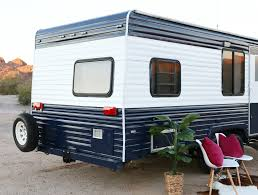 Exterior Mobile Home Makeover by Camper Makeover How To Repaint A Travel Trailer
