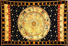 tapestry home decor buy online yellow celestial zodiac tapestry for home decor and
