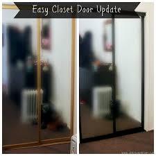 Paint Closet Doors Diy Closet Door Spray Paint Update By Claudya