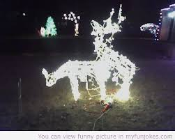 lawn reindeer with lights reindeer lawn art prank christmas funny humor cool funniest joke