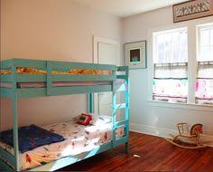 Small Shared Boy And Girls Bedroom Vintage Disneyland Room - Ikea mydal bunk bed